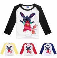 Wholesale Bunny Tee - 2017 Summer Boys Girls Cartoon T Shirts Bing Bunny Children Tees Clothing free shipping in stock