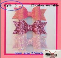 bebek klipsleri yaylar toptan satış-5 stil mevcut! 50 ADET / 4.5 inç Glitter Pullu Ilmek bebek kız saç yay Bobble Tokalar Ilmek Bahar saç klip Saç Aksesuarları