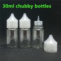 Wholesale E Cigarette Juices - 30ml PET Dropper E-Liquid Bottle 30 ml Chubby Gorilla Clear Empty For E Cigarette Eliquid Vape Juice Oil With Tamper Evident Caps