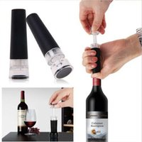 Wholesale Wine Stopper Vacuum Pump - Red Wine Champagne Bottle Preserver Air Pump Stopper Vacuum Sealed Saver Retain Freshness Stopper Sealer Plug Tools OOA1895