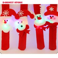 Natal Pulseira Pulseiras Pulseira de Natal Patting Circle Children Gift Papai Noel Snowman Deer Party Toys