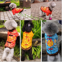 Wholesale Pet Tang Suit - 2017 Dog Apparel Chinese Style Tang Suit Pet Dog Clothes The Newly Keep Warm Blessing Word