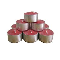 Wholesale tea lights candles wax online - 4 Hours Candle Set of Tea Light Candles Unscented Tealight Candle Parties Birthday Valentine s day Weddings Product Code