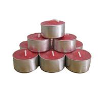 velas sin perfume al por mayor-Juego de 4 horas con velas de 100Tea Velas ligeras, velas de Tealight sin perfume Cumpleaños Día de San Valentín Bodas Código de producto: 75-1004