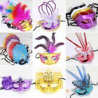 Wholesale Wholesale Blink Dress - Fashion Women Girls Flashing LED Butterfly Fiber Masks Blinking Mask Masquerade Party Dress Decoration Supplies