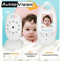 Wholesale Wireless Battery Saver - VB601 Color LCD Video Wireless Baby Monitor Talk with baby Night Vision IR Nanny Babyfoon Baby Camera with Music Temperature AT