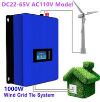 Wholesale Inverter Tie Wind - 1000W Wind Power Grid Tie Inverter DC22-65V AC110V with LCD display