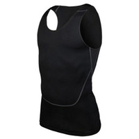 Wholesale Tight Tank Top Undershirt - Wholesale- Men's Bodybuilding Jersey Vest Tank Top Quick-dry Vest Tights Tops Undershirt