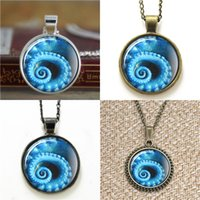 Wholesale Day Tentacle - 10pcs Blue Octopus Tentacle Glass Photo Necklace keyring bookmark cufflink earring bracelet