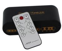 Wholesale Video Optical Converter - SPDIF TOSLINK Digital Optical Audio True Matrix 4x2 Switch Switcher Splitter 4 In 2 Out Video Converter Remote Control # F1364