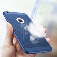 cubierta de la cubierta de la parte posterior del iphone 5s al por mayor-Respirando la caja del teléfono para iPhone 5s 6s 7 Plus SE a prueba de golpes PC Back Covers carcasa protectora Shell para iPhone 5 s 6 s Plus