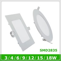 Lampadina a led a pannello SMD2835 led 3w 4w 6w 9w 12w 15w 18w incasso a soffitto Quadrato led Dowlight lampada Fredda bianco downlight pain light