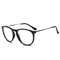 marcos de gafas unisex de metal redondo al por mayor-Venta al por mayor- Outeye anteojos vintage Unisex hombres mujeres lentes de lentes transparentes Marco de metal redondo Gafas de titanio Nerd gafas ópticas