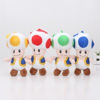 Wholesale Mario Brothers Mushroom Plush Toys - 18cm Super Mario Brothers Toad Mushroom plush toy Stuffed soft doll pendant keychain kids toys children gift