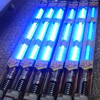 Wholesale Star Wholesale Led - Star Wars Obi- Wan Kenobi Darth Vader Master Yoda FX lightsaber LED flash swords kids toys blue red green sound cosplay wholesale