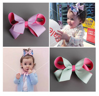Wholesale Purple Butterfly Hair Clips - 8 style Fashion Hair Bow With Clip For School Baby Children Pastel Bow Butterfly Knot Hair Clip