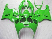 kit corpo zx7r venda por atacado-Kits de Carenagem Zx7r 2000 Kits de Carroceria Zx 7r 02 03 Carenagem de Plástico Verde para Kawasaki Zx7r 1999 1996 - 2003