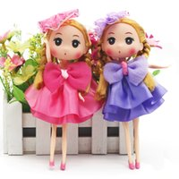 """Wholesale Gril Baby - 7"""" Children Toys 4pcs Mini Leggy Baby Cute Gril Dolls for Dollhouse Activities Toy Birthday Children's Day"""