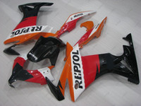 honda cbr repsol kiti toptan satış-Tam Vücut Kitleri CBR500R 14 Honda CBR500R 14 için Fairing Kitleri REPSOL ABS Fairing CBR 500 RR 2013 2013 için Kırmızı - 2013