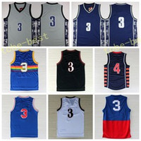 Wholesale Allen Sports - Hot Sale 3 Allen Iverson Jersey Georgetown Hoyas College Basketball Jersey Sports Uniforms Throwback Stitched Blue Black White Red With Name