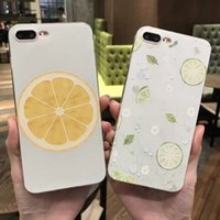 Wholesale Best Apple Fruit - For iphone6 plus cell phone cases with iphone7s best new TPU soft embossed painted fruit pattern transparent phone accessorie free shipping