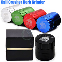 Wholesale cali crusher for sale - Group buy Top quality Cali Crusher Grinder Layers mm mm Tobacco metal High Grade Aluminium Alloy Herb Spice Crusher Gift Box herbal Grinders