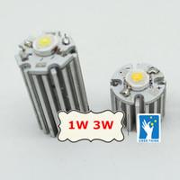 Wholesale Led Aluminum Heatsink - Wholesale- 50pcs Aluminum heatsink 20x20mm for 1w LEDs cold white warm white red blue green yellow led high power radiator, COOLER.
