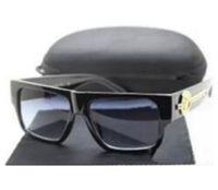 sonnenbrille kette groihandel-Neue Mode UV 400 Original Box Schutz Italien Marke Designer Gold Kette Tyga Medusa Sonnenbrille Männer / Frauen Sonnenbrille 33