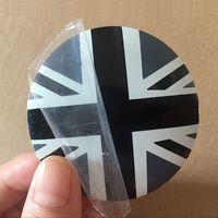 Wholesale England Stickers - 4PCS 56MM Aluminium England Flag Wheel Hub Center Cap Sticker for Golf 4 6 7 Corolla Camry RAV-4 Fiesta Clio Cruze Aveo Captiva