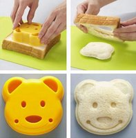 molde de pão de urso venda por atacado-Bear Forma Pão Sanduíche Cortador De Biscoitos Molde Do Bolo Mold Maker DIY Cortadores De Bolo Dos Desenhos Animados Urso Ferramenta de Cozinha Bakeware