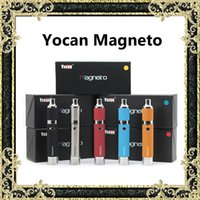 Wholesale Real Silver Wholesale - Original Yocan Magneto Kit 1100mAh Wax Vaporizer Pen Kits With Magneto Ceramic Coils Magnetic Connection & Dab Tool Coil Cap Real Pictures