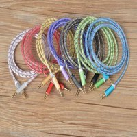 Wholesale Headphones Speak - 5FT 1.5m Aluminum Alloy Audio Cable Braided Stereo Male 3.5mm Car Aux Extended Luxury Durable Cord for iphone Samsung Headphone Speak Tablet