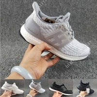 Wholesale Shoes Real Leather For Woman - (With Box) Ultra Boost 3.0 Core Black real boost Mens and women Casual Shoes Running shoes for men sports ultraboost ronnie fieg Size 36-45