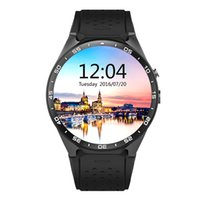 Wholesale Mobile Heart Rate Monitor - KW88 android mobile phone smart watches MTK6580 Quad-core with SIM card heart rate monitor Wifi GPS camera pedometer bluetooth google play