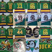 Wholesale Reed Wholesale - Wholesale Mighty Ducks Movie Jerseys Men's 99 Adam Banks 66 Gordon Bombay 33 Greg Goldberg 96 Charlie Conway 44 Fulton Reed Jerseys