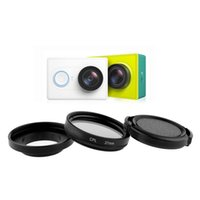 Wholesale 37mm Cpl Filter - Wholesale- 37mm CPL Filter Professional 3 In 1 Polarizer Filter+ Adapter Ring + Lens Cap for xiaomi YI camera