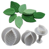 Wholesale rose cookie mold - Cake Baking Mold DIY Cookies Molds Rose Leaves Plastic Mould Durable Eco Friendly Various Styles Moulds Easy To Clean 2ry I
