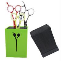 conjuntos de color de pelo de salón al por mayor-2017 Nuevo Pelo Tijeras Holder Fashion Salon Profesional Conjunto de Tijera Caja de Almacenamiento de Alta Calidad Envío Gratis 4 colores
