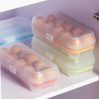 sepet saklama kapları toptan satış-Yumurta Gıda Konteyner Saklama kutusu 10 ızgara Sepet organizatör ev mutfak Alet Öğeleri Aksesuarları Malzemeleri Ürünleri