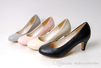 Wholesale Low Price Work Dresses - wholesaler free shipping factory price women's shoes large size round nose working shoe dress wedding bride shoe 261
