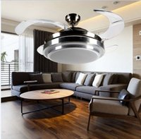 Wholesale Incandescent Light Dimmer - NEW Dimming LED invisible ceiling light fan light restaurant fan chandelier lamp