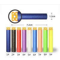 Wholesale 7 cm New Design TPR Hollow Out Soft Head Darts Refill Foam Bullet for Nerf N strike Elite Guns DHL