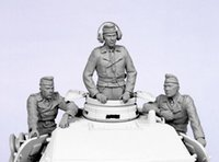 Wholesale Wwii Wholesale - Wholesale- Unpainted Kit 1  35 German tank crew Summer 1941-45 include 3 soldiers Historical WWII Figure Resin Kit Free Shipping