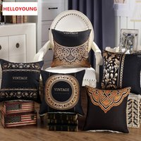 BZ090 Luxury Cushion Cover Pillow Case Home Textiles Supplies Lumbar Pillow  Retro Europe And The United States Pillow Chair Seat