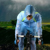 Wholesale Outdoor Riding Mountain Bicycle Bike Cycling Raincoat Breathable Compressed Windshield Waterproof Raincoat Suit bCycling Jersey Sets Cycling