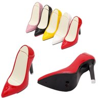 Wholesale New Shaped High Heel - Wholesale-1pc High Quality Imitation Lady High-Heeled Shoes Shape Cigarette Lighter Refillable Butane Gas Lighter Cool Design New