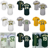 Wholesale Orange Dry Top - Men's Oakland Athletics jersey 24 Ricky Henderson #33 Jose Canseco 54 Sonny Gray home away Stitched Baseball Jerseys Top quality