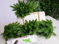 Wholesale Trees Plastic Leaves - Artificial Pine Tree Green Plant Plastic Leaves Christmas Party Home Decor Photography Props Free Shipping ZA4147