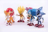 Wholesale Sega Sonic Hedgehog - s Hobbies Action Toy Figures 7cm SEGA Sonic the Hedgehog Figure Toy PVC Sonic Characters figure toys brinquedos Doll