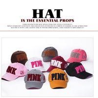 Wholesale Wholesale Fitted Kids Baseball Caps - PINK hat adult and big kids Baseball cap summer Sun hat snapback hats sports hip hop flat sun hat 8 color